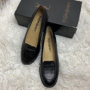 Yves Saint Laurent Black Leather Loafer size 8